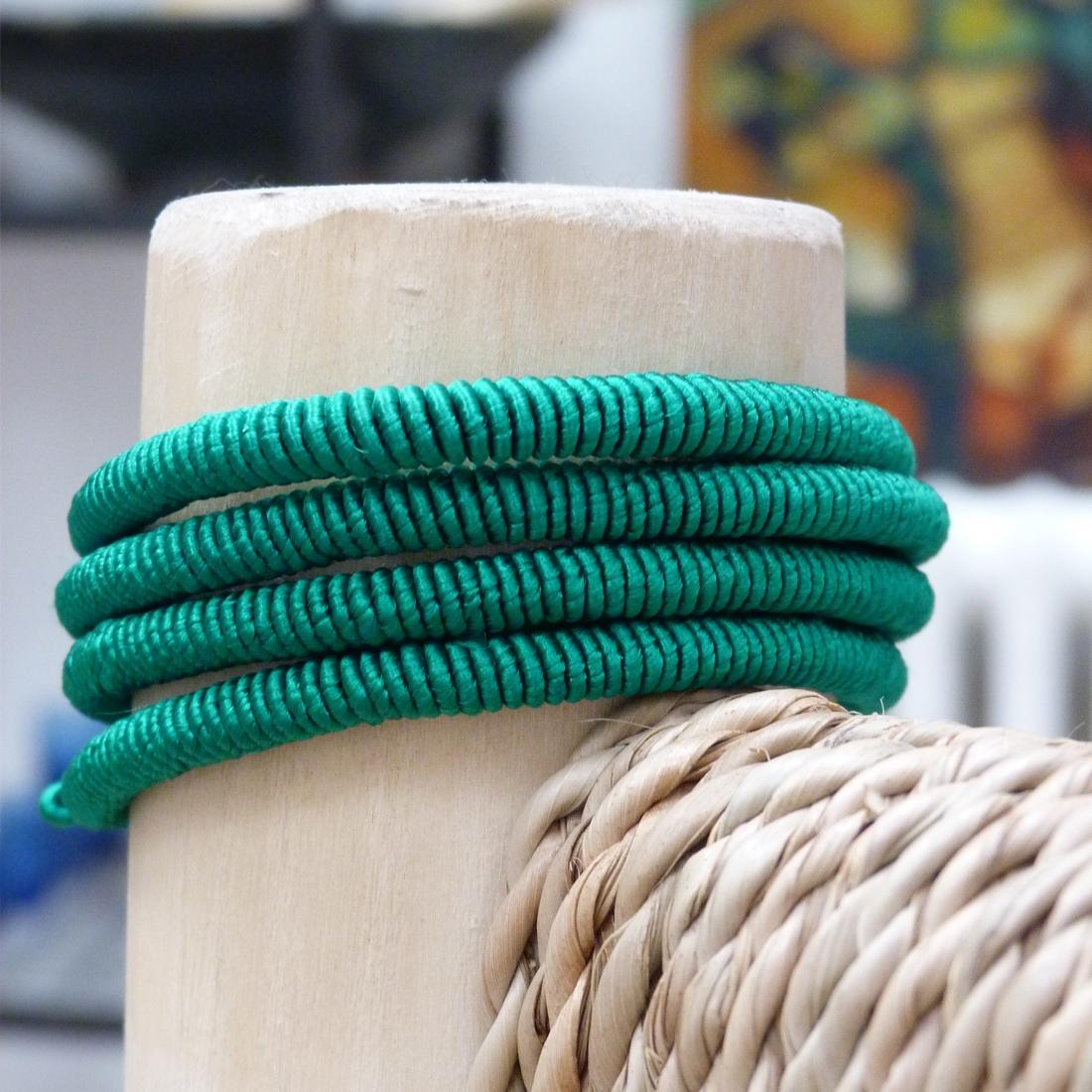 Bracelet Fil Vert