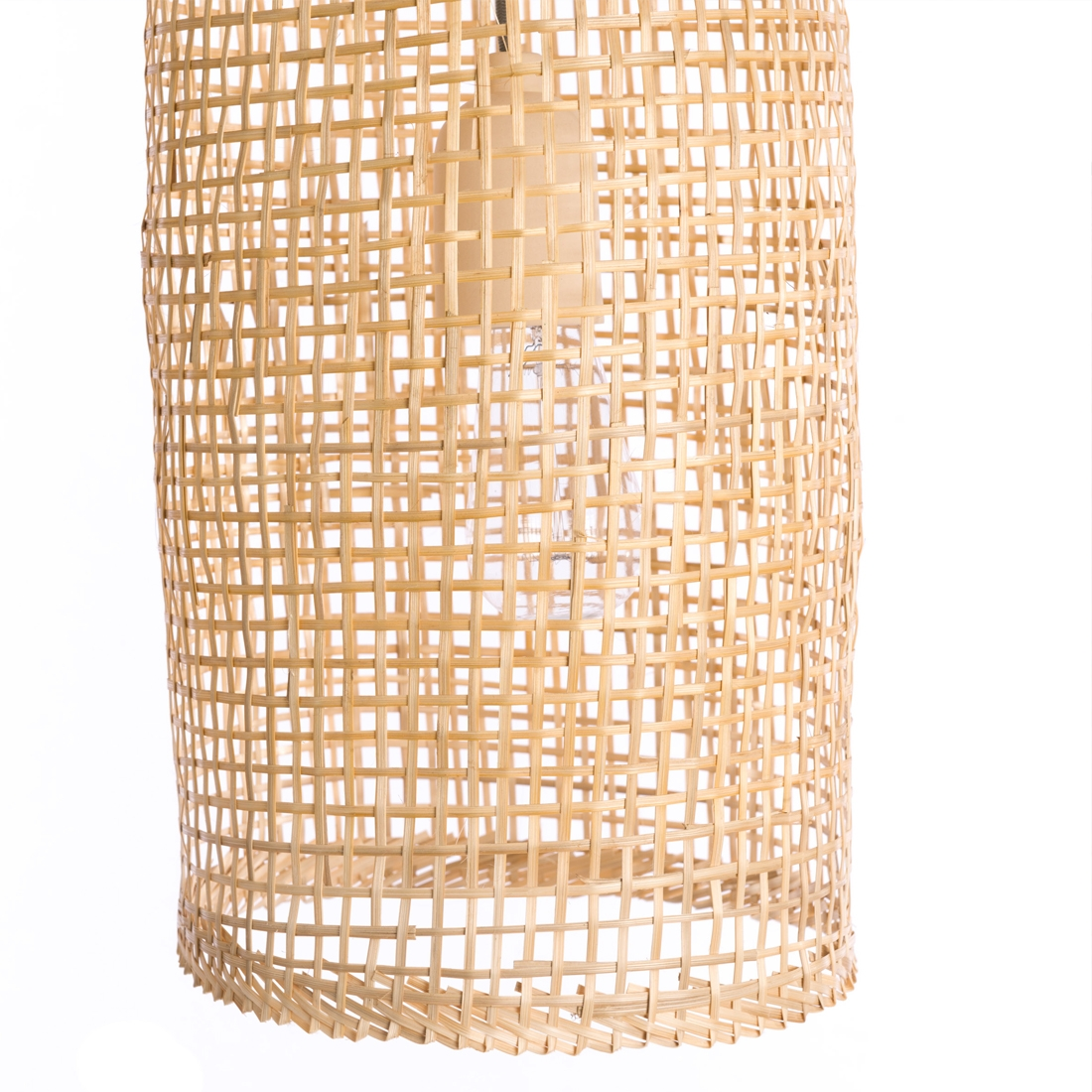 Lampes fish cage Bambou