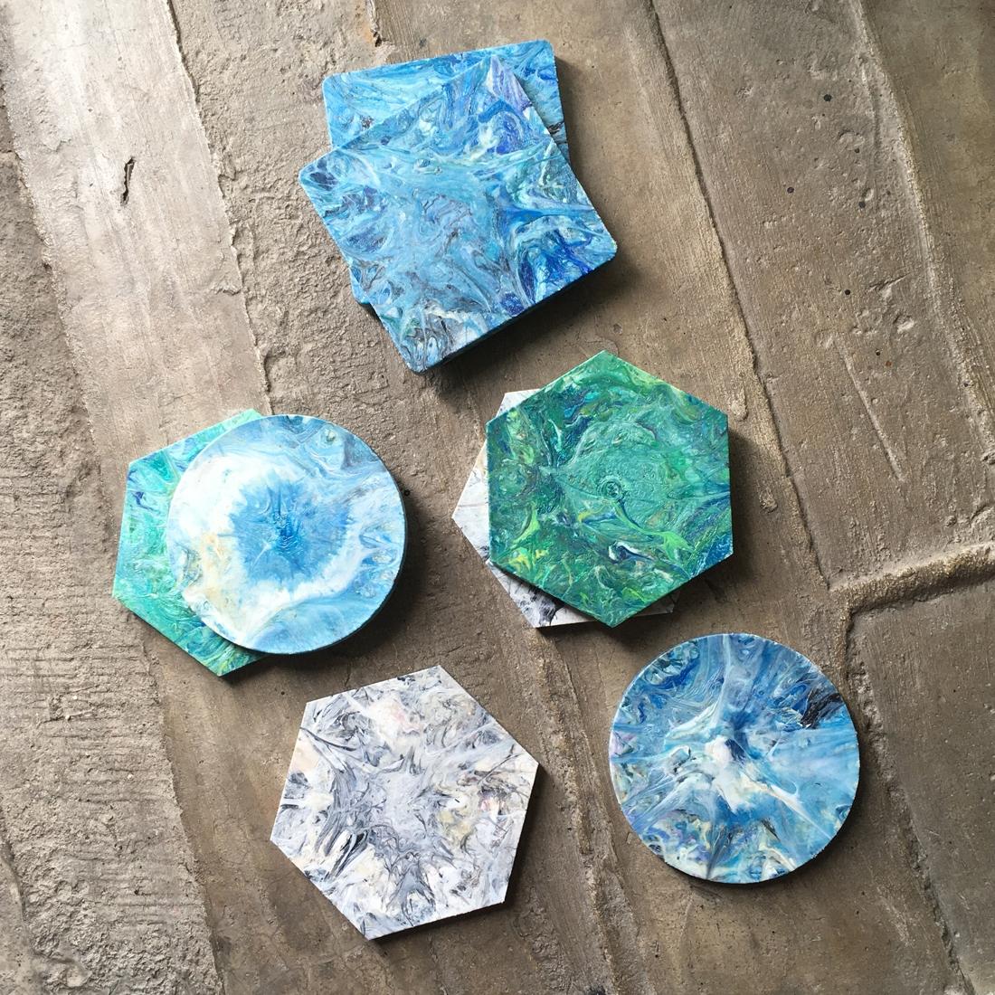 Sous verre en plastique recyclé