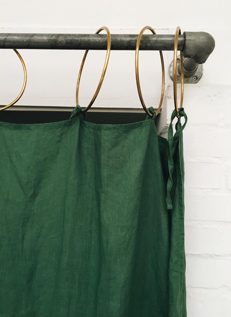 Rideaux lin vert