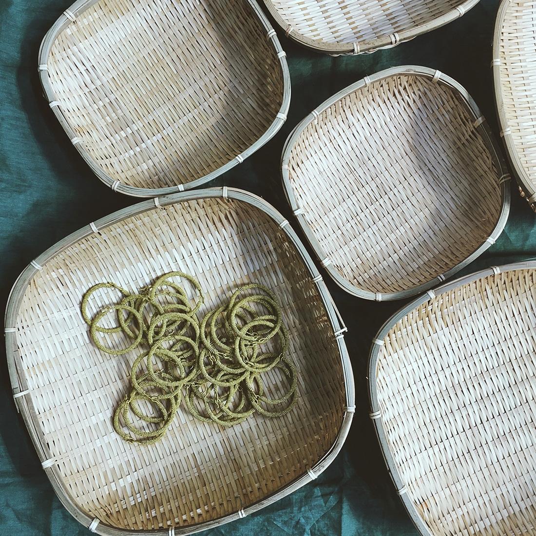 Set de corbeilles en bambou