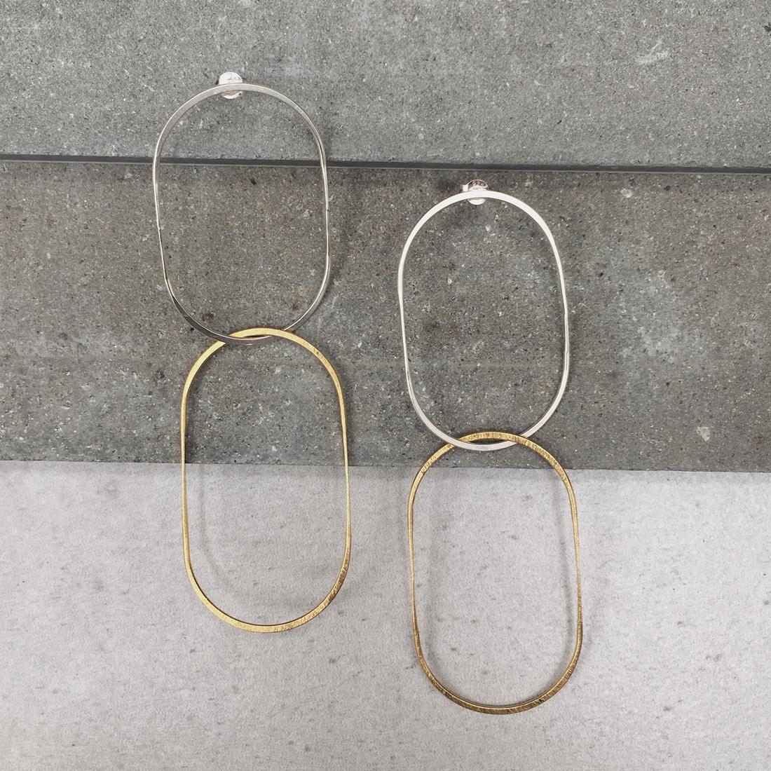 Boucles d'oreilles NUI Vermeil / Argent