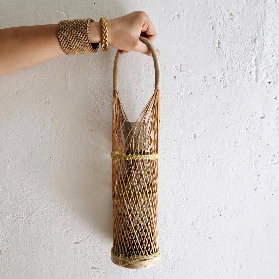 Porte-bouteille en bambou