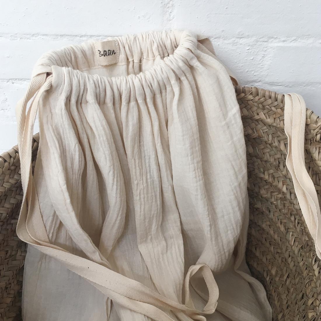 Sac à linge en coton gaufré
