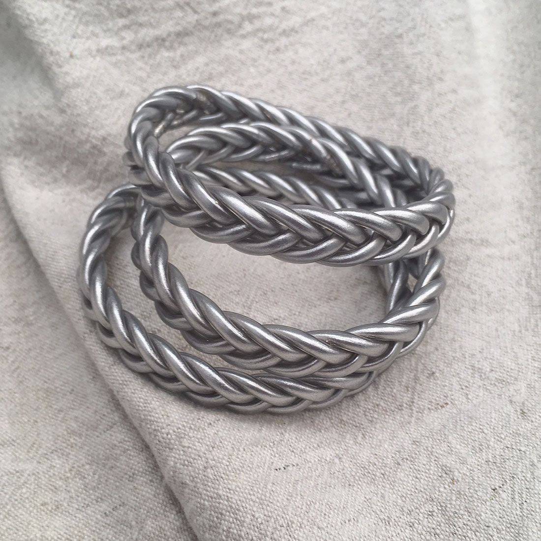 Bracelet bouddhiste Braid Argent