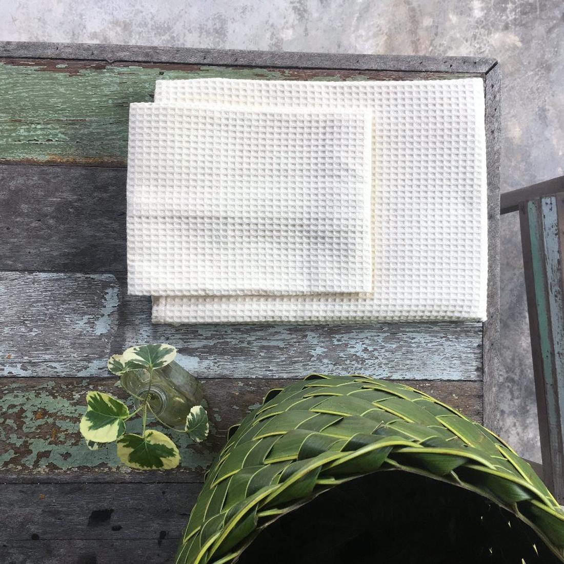 Linge de bain bio - nid d'abeille