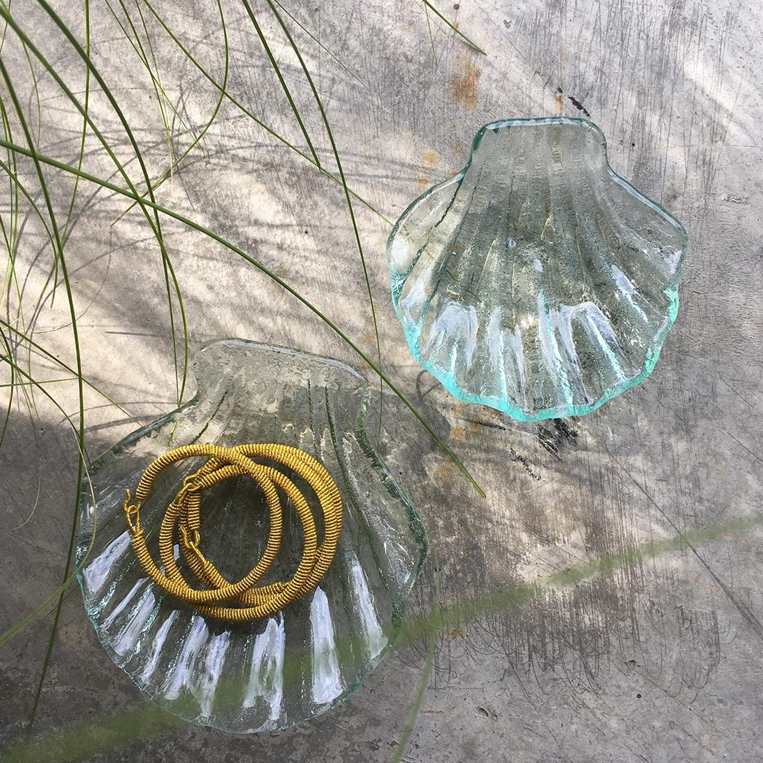 Coupelles coquillages en verre