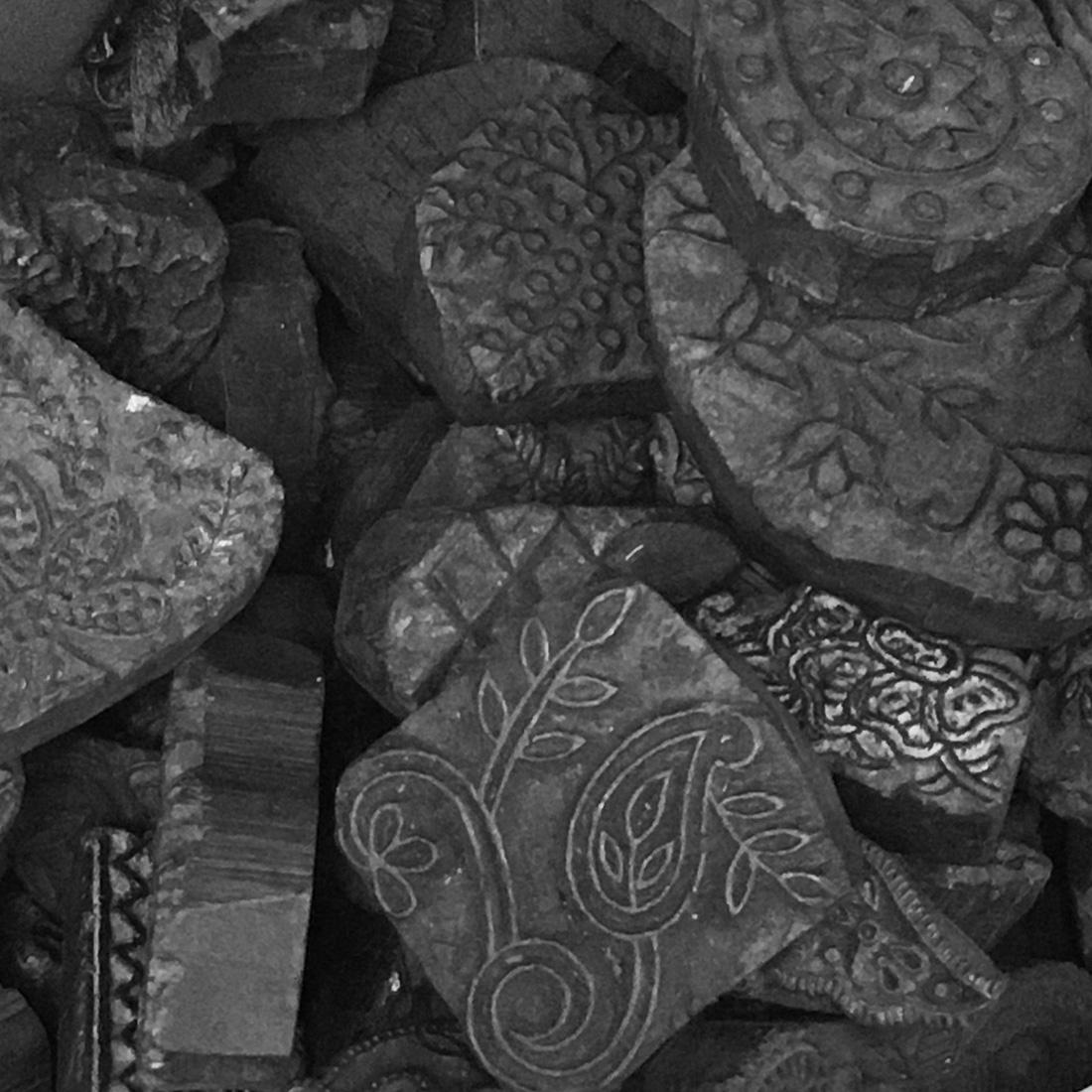 Echarpe Blockprint N°1