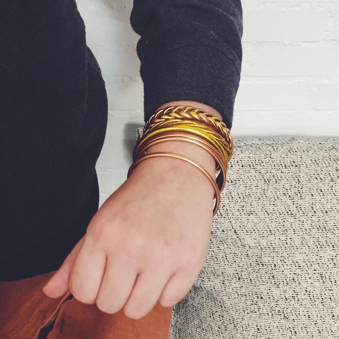 Bracelet Duo Or - Cuivre