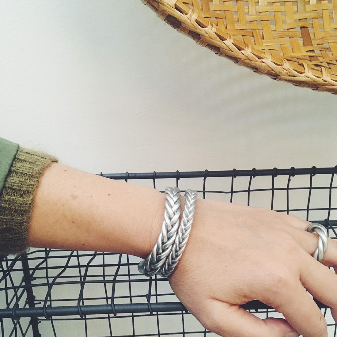Bracelet Braid fin Argent