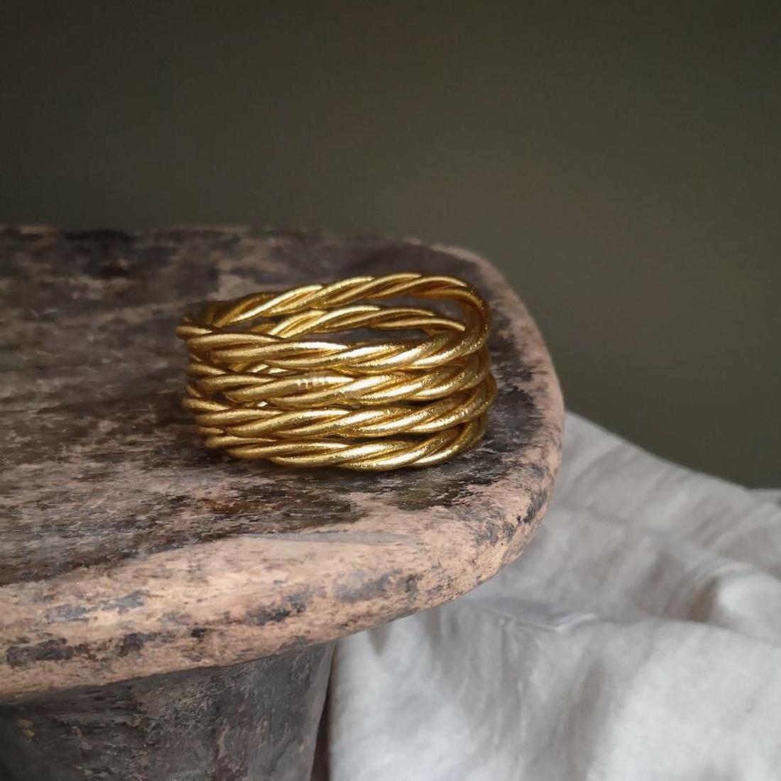 Bracelet torsadé - Modèle épais