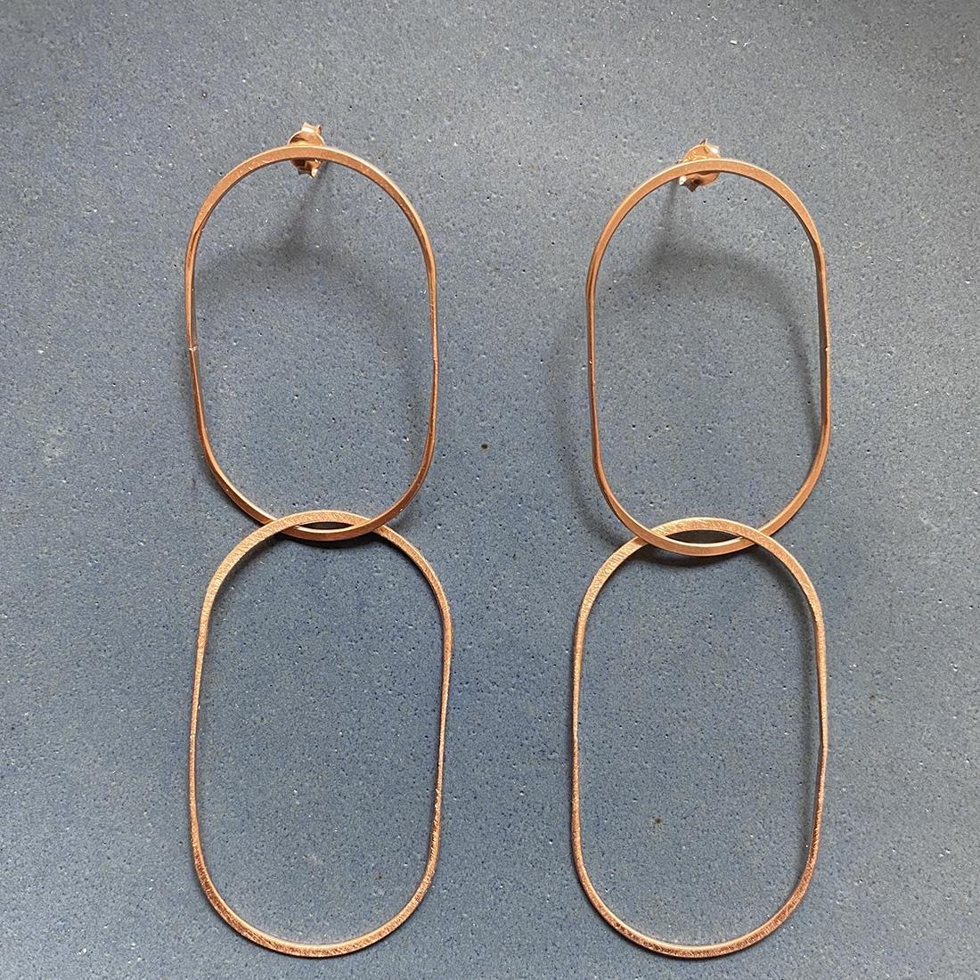 Boucles d'oreilles NUI Or rose
