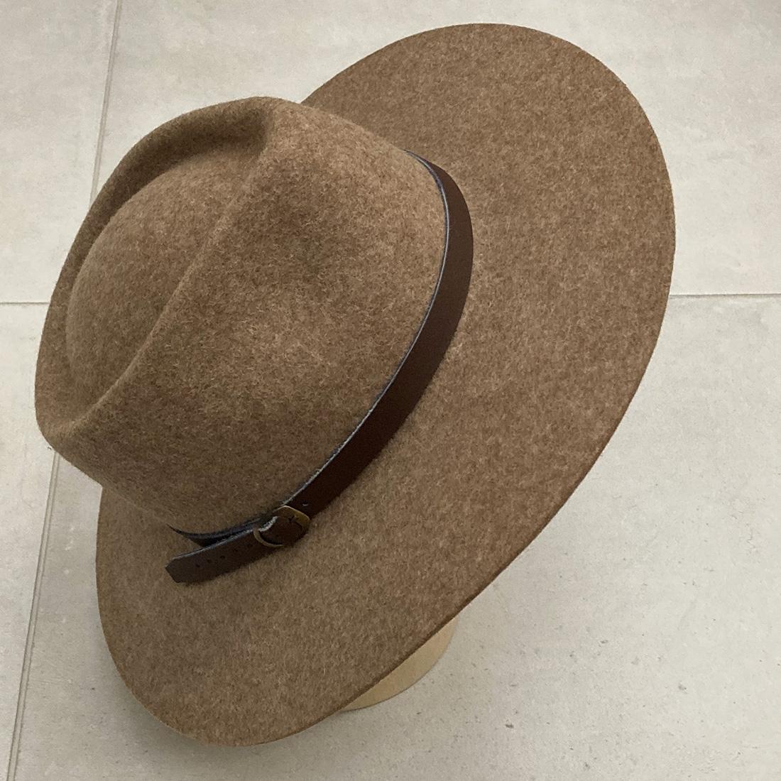 Chapeau bord long en Alpaga - Beige