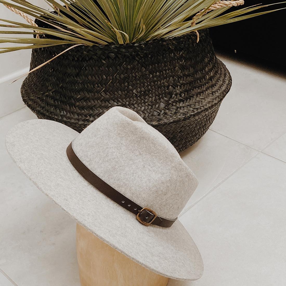 Chapeau en feutre de laine de mouton